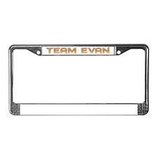 Team Evan License Plate Frame