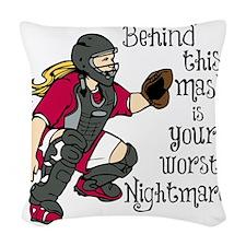 Nightmare Woven Throw Pillow