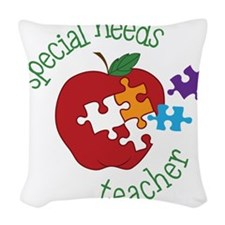 Special Needs Teacher Woven Throw Pillow