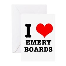 I Heart (Love) Emery Boards Greeting Cards (Packag