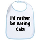 Rather be eating Cake Bib
