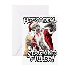 Zombie Santa Stocking Filler Greeting Card