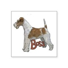 "Wirehaired Fox Terrier Square Sticker 3"" x 3"""