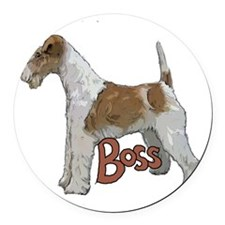 Wirehaired Fox Terrier Round Car Magnet