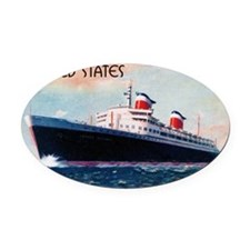 SS United States Oval Car Magnet