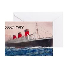 Queen Mary Liner Greeting Card