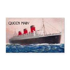 Queen Mary Liner Rectangle Car Magnet