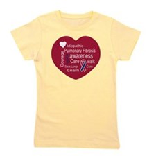 Pulmonary Fibrosis Awareness Heart Girl's Tee