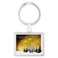 Declaration of Independence Fou Landscape Keychain