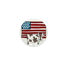 Patriotic Cow Mini Button