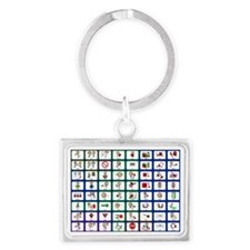 8x8 Picture Communication Board Landscape Keychain