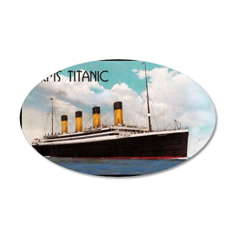 RMS Titanic 35x21 Oval Wall Decal