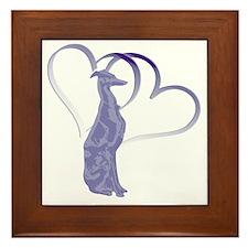 Valentine Whippet Framed Tile