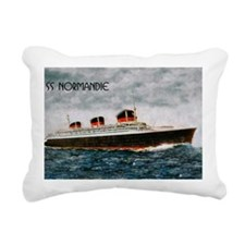 SS Normandie Rectangular Canvas Pillow