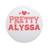 Alyssa Ornament (Round)