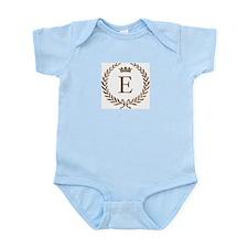 Napoleon initial letter E monogram Infant Creeper