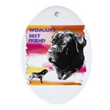 Funny Neapolitan mastiff Oval Ornament