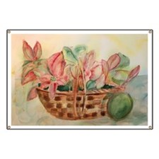 Flowers in Basket Banner