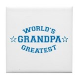 World's Greatest Grandpa Tile Coaster