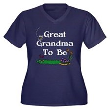 Great Grandma To Be Gardener Women's Plus Size V-N
