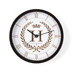 Napoleon initial letter H monogram Wall Clock