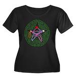 Lover's Pentagram Women's Plus Size Scoop Neck Dar