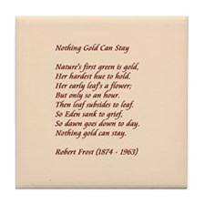 Nothing Gold Tile Coaster