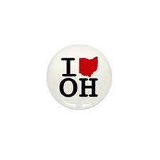 I Heart Ohio Mini Button (100 pack)