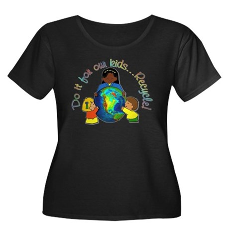 Do it for our kids Women's Plus Size Scoop Neck Da