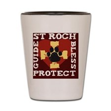 St. Roch Protect My Dog Shot Glass