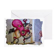 Octopus Strangling Chicken Greeting Card