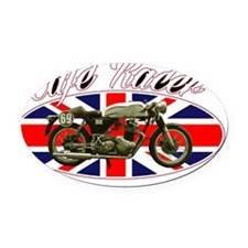Cafe Racer - British Flag Oval Car Magnet