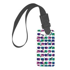 Cute Elephants Luggage Tag
