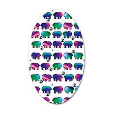 Cute Elephants 35x21 Oval Wall Decal