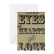 12x18 Clear Eyes Full Hearts Greeting Card