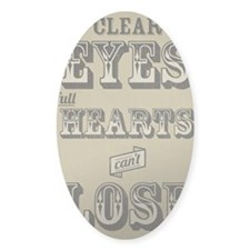 12x18 Clear Eyes Full Hearts Decal