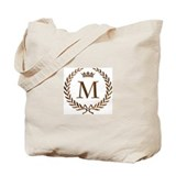 Napoleon initial letter M monogram Tote Bag