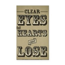 23x35 Clear Eyes Full Hearts Rectangle Car Magnet