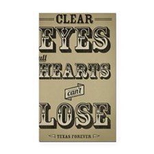 Clear Eyes Full Hearts w/bkg Rectangle Car Magnet