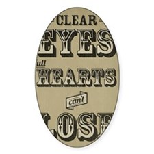 Clear Eyes Full Hearts Tall w/bkg Decal