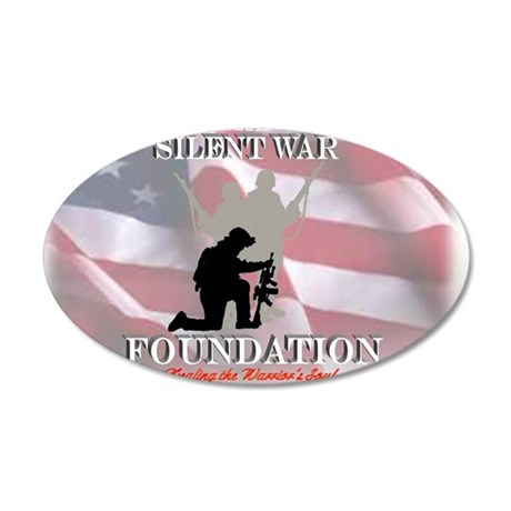 silent war foundation signat 35x21 Oval Wall Decal