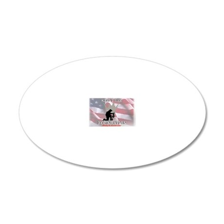 silent war foundation signat 20x12 Oval Wall Decal