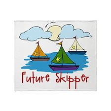 Future Skipper Throw Blanket