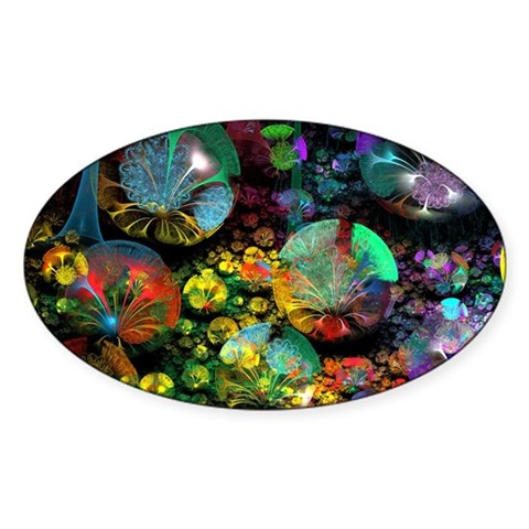 Fractal 3D Bubble Garden Decal