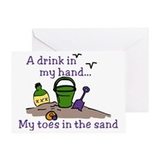 In The Sand Greeting Card