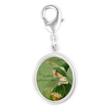 sq_greeting_card_192_V_F Silver Oval Charm