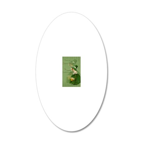 sq_greeting_card_192_V_F 20x12 Oval Wall Decal