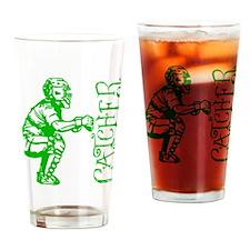 green Catcher sideways Drinking Glass