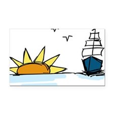 Sunrise Sailboat Rectangle Car Magnet
