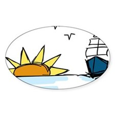 Sunrise Sailboat Decal